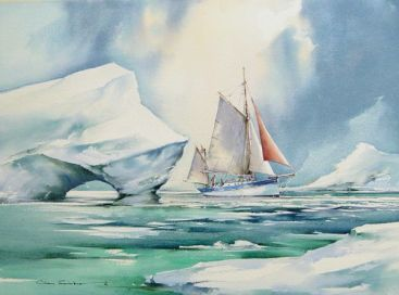 Simon Allan of Porthleven, Cornwall, has won the 2002-2003 Musto International Cruising Award for his log and photos of a cruise in Greenland waters, aboard his 30ft gaff yawl Grandgousier, originally built in France in 1931 to fish for oysters under sail.