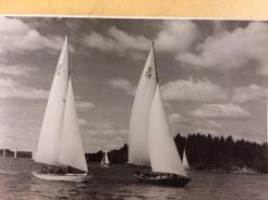 Moana and Itaka racing from Waxholm to Sandhamn, 1942