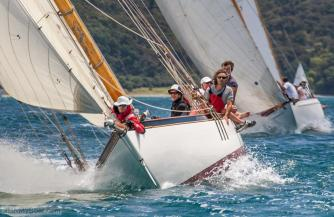 Competing At The 2014 Mahurangi Classic Yacht Race, New Zealand.