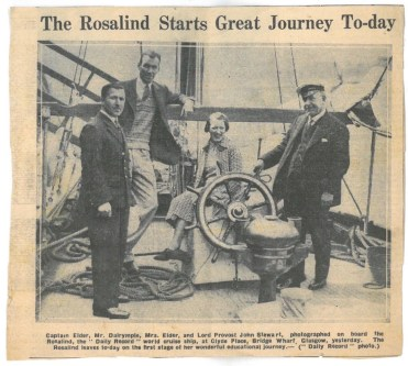 The Rosalind Starts Great Journey To-day