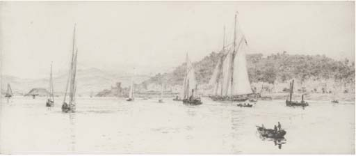 Yachts in a calm off Oban, Argyll