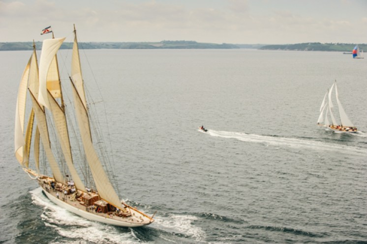 Adix and Kelpie in Falmouth Bay
