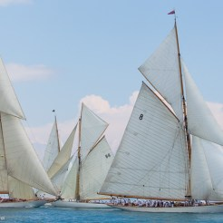 Voiles D'Antibes 2016, Moonbeam IV, Cambria and Moonbeam III in the background