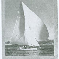 Windward I in the 1930's from the Australian Boating Annual, 1936