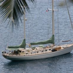 Marnie at anchor