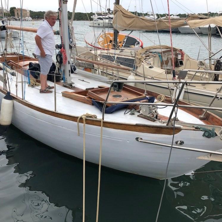 Catjana at her berth in Puerto Colom