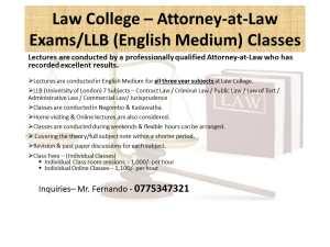 Law Classes