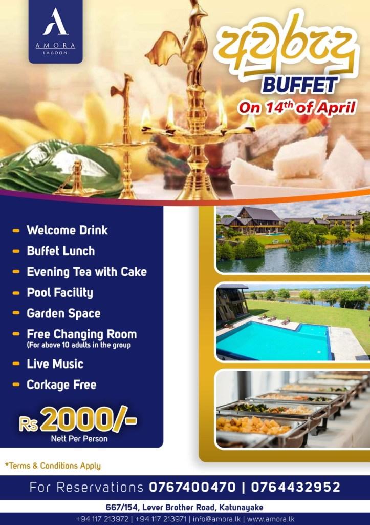 Avurudu buffet Amora Lagoon