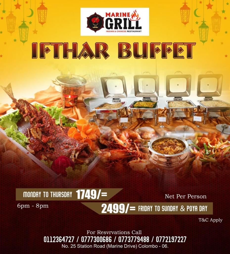 marine grill special ifthar buffet