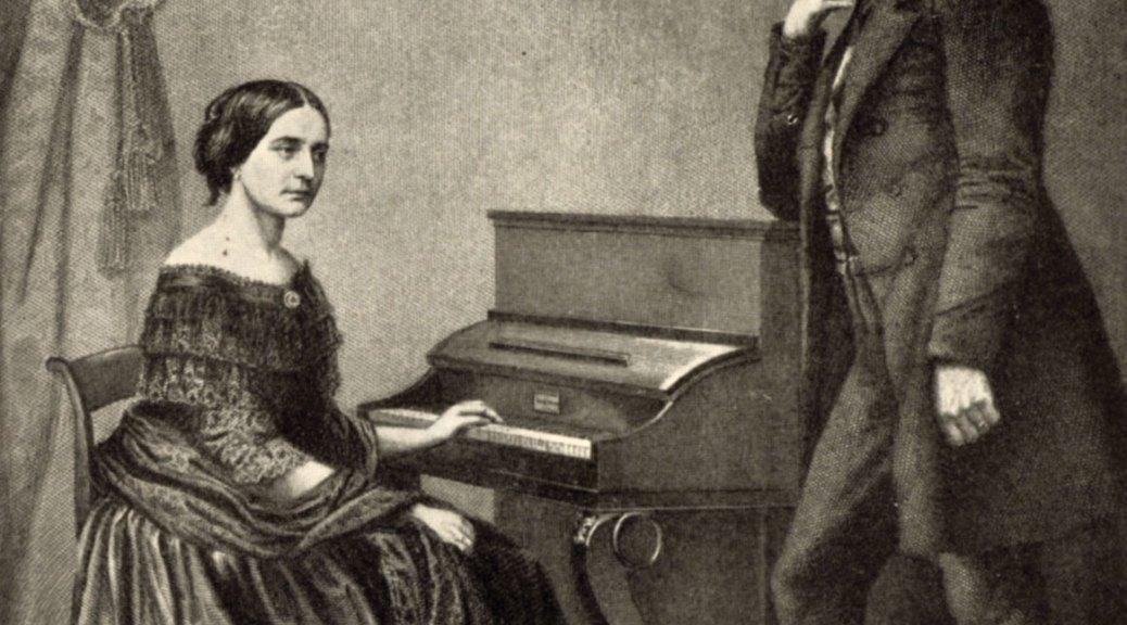 Clara Schumann au piano