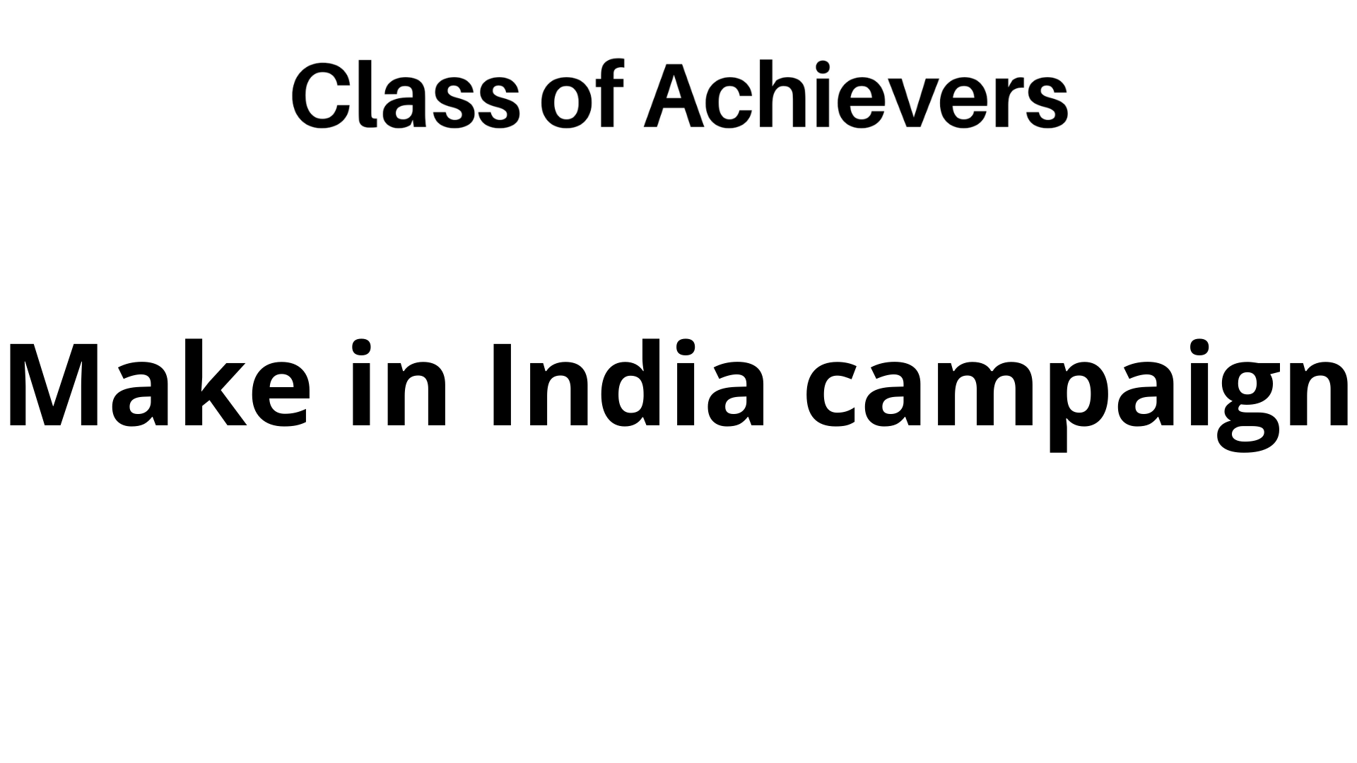Essay on make in india campaign