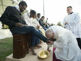 Pope Francis Foot Washing