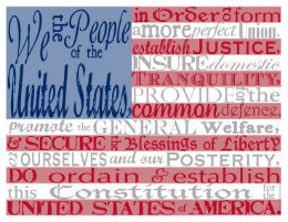 Preamble American Flag