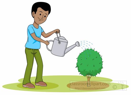 Gardening : gardener-watering-plant-clipart : Classroom ... (550 x 400 Pixel)