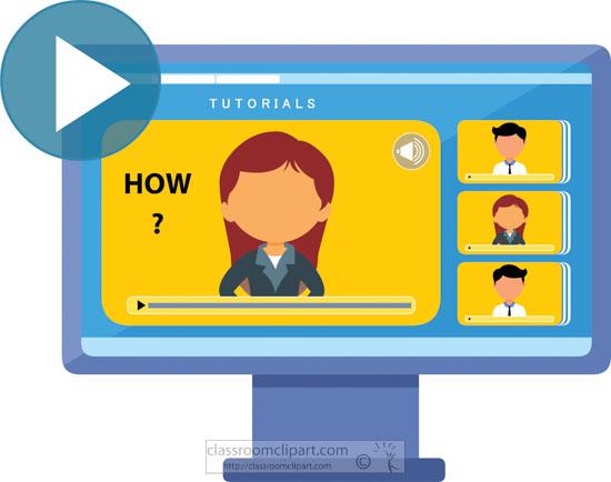 School Clipart - online-video-tutorial-education-clipart ...
