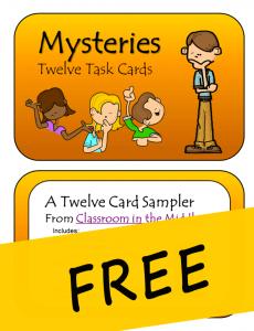 Task Card Mysteries FREE
