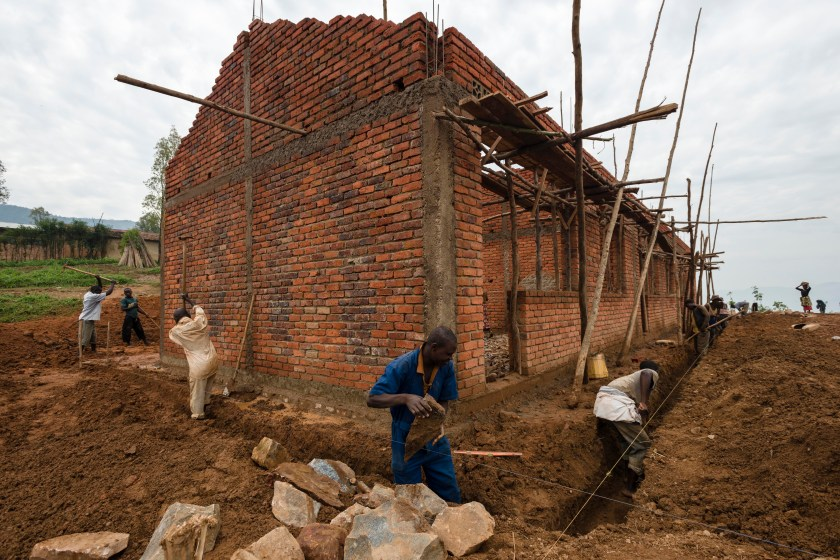 The new classrooms at Gitumba are progressing well, and should be finished in a month.