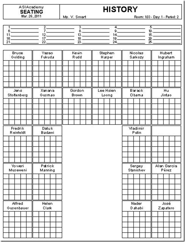 seating grid