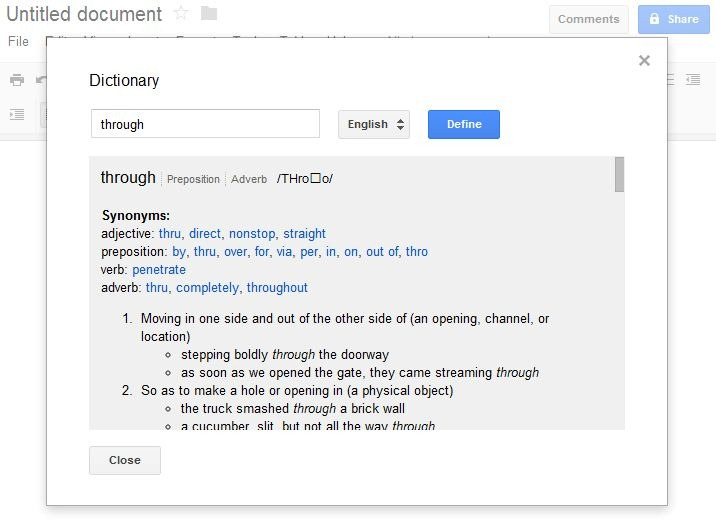 Google Docs Dictionary and Research Tools Can Help Your