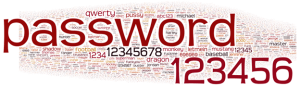 Could your students guess your computer password? Top 10,000 passwords in a Wordle