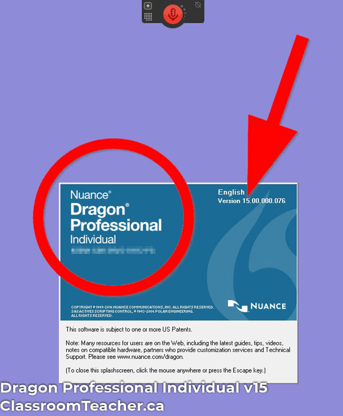 Screenshot of Dragon Professional Individual v15 product info