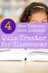 4 New Features from Quizalize: Quiz Creator for Classrooms
