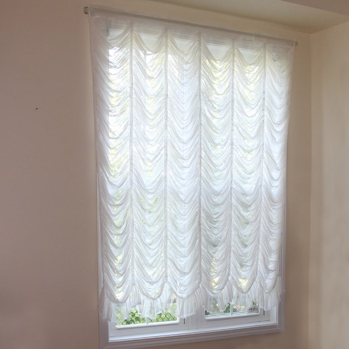 Captivating Custom Made Austrian Curtain
