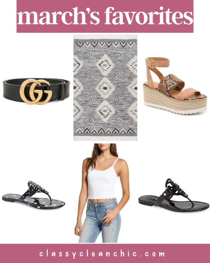 March's Favorites + Weekend Sales | Style blogger Emerson Hannon of Classycleanchic shares March's Favorites + Weekend Sales