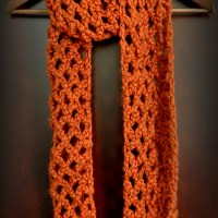 Free Pattern: Diamond Lattice Chain Crochet Infinity Scarf