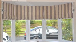 Roman Blinds pattern matched around the bay