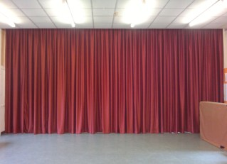 Stage curtains for local Community Hall