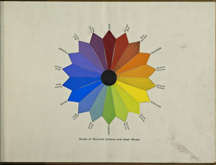 "aly=""A class-book of color : including color definitions, color scaling, and the harmony of colors Year: 1895 (1890s) Authors: Maycock, Mark M S"
