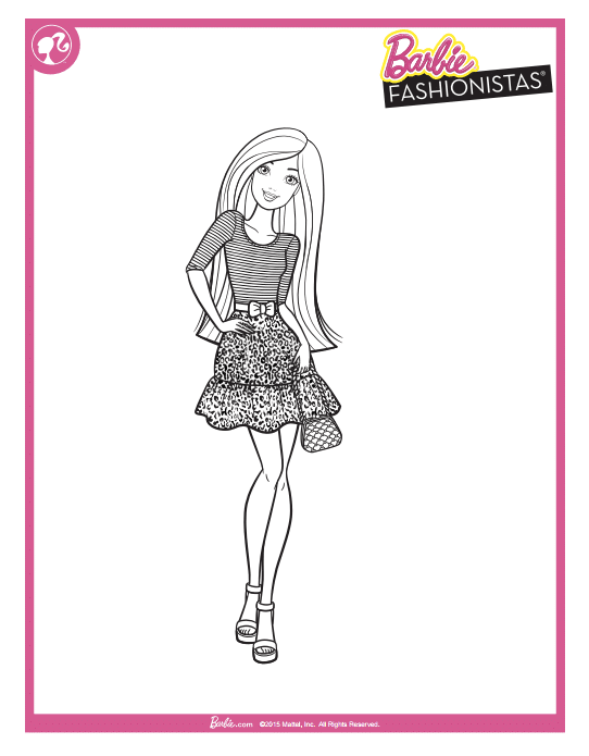 Free Barbie Printable Coloring Pages Classy Mommy