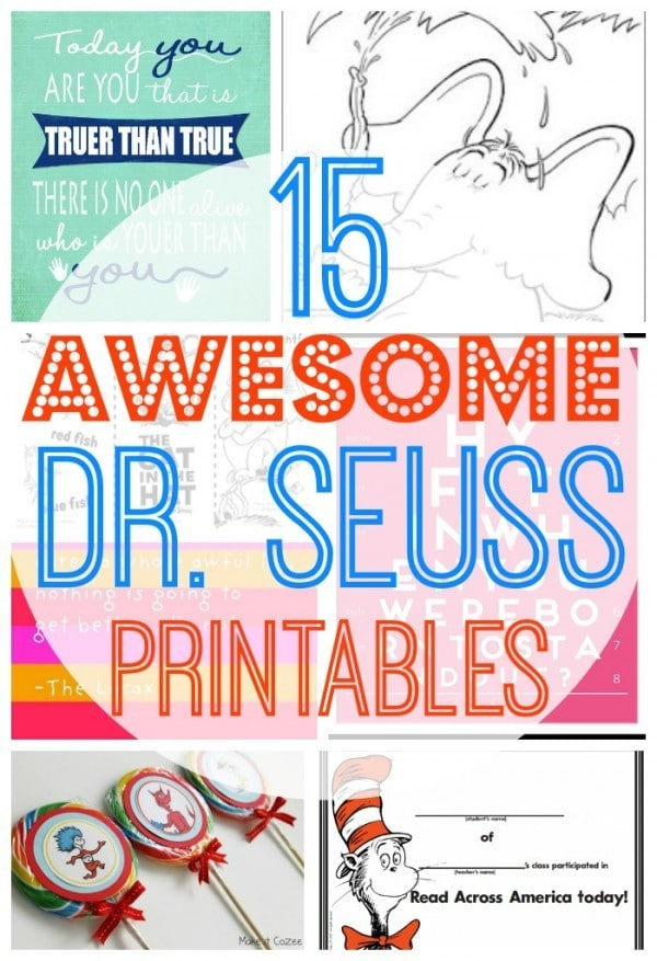 15 Awesome Free Dr Seuss Printables Coloring Pages Cupcake Toppers And More Drseuss Classy Mommy