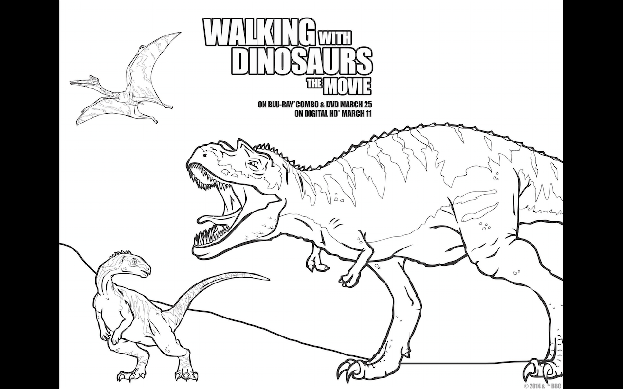 Jurassic Park 3 Colouring Pages