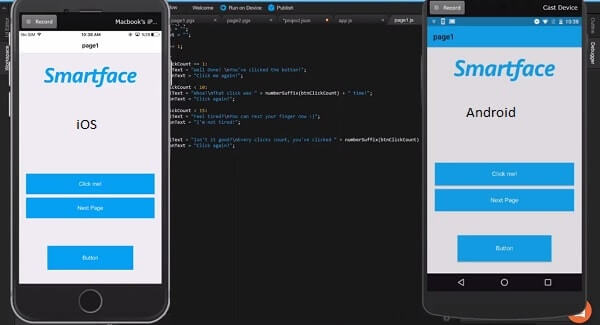smartface ios emulator for pc windows and mac os to run ios apps