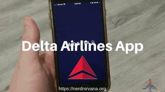 Delta airlines app