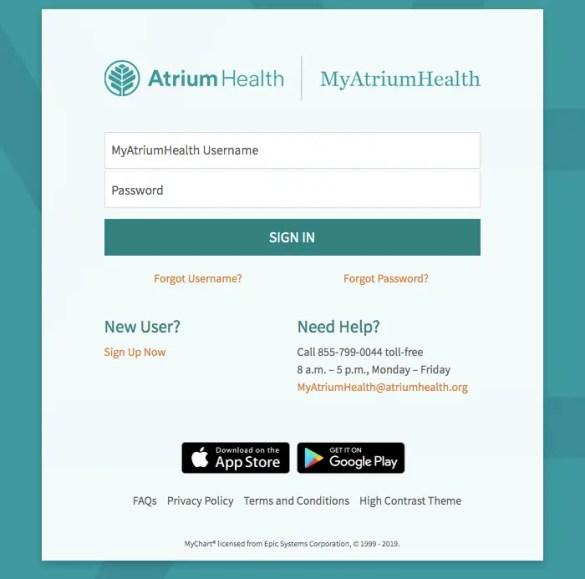 My Carolinas Healthcare login portal - Myatriumhealth