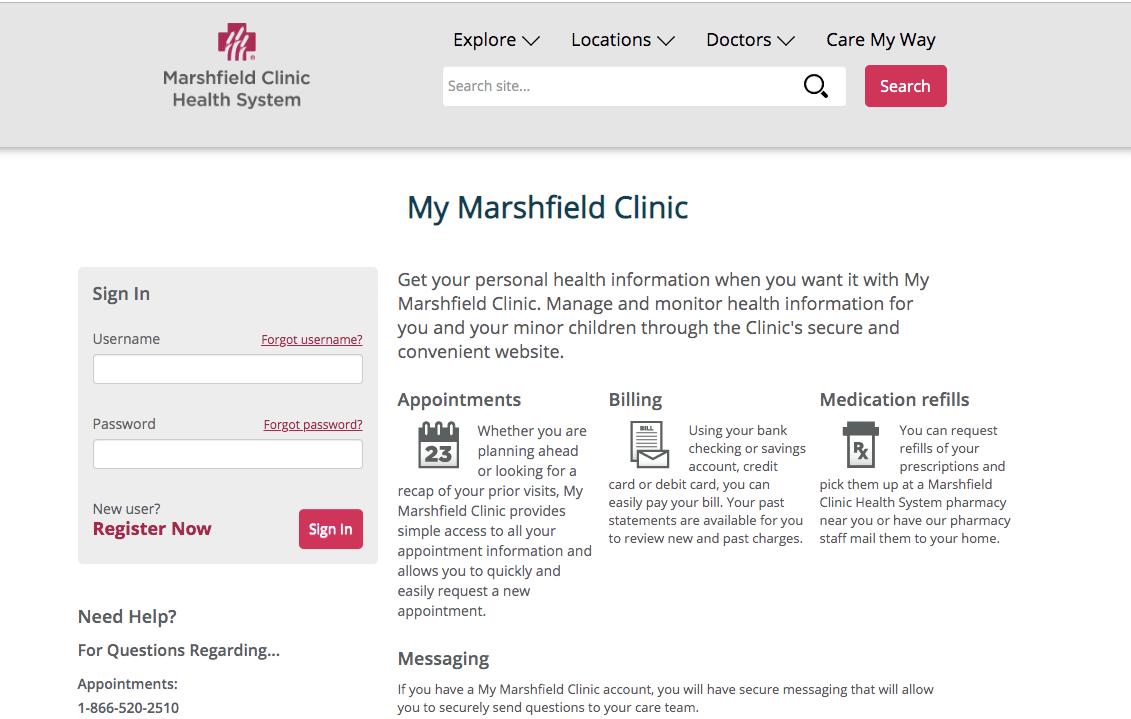 Mymarshfieldclinic login - My Marshfield Clinic