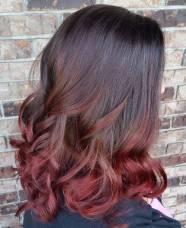 2-burgundy-ombre-for-medium-length-black-hair