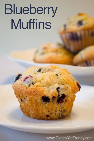 Mix It Up Friday Link Up #1: Blueberry Muffins