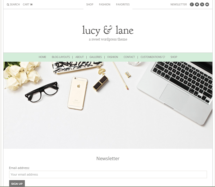 lucy and lace theme