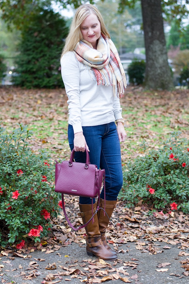 plaid blanket scarf 3