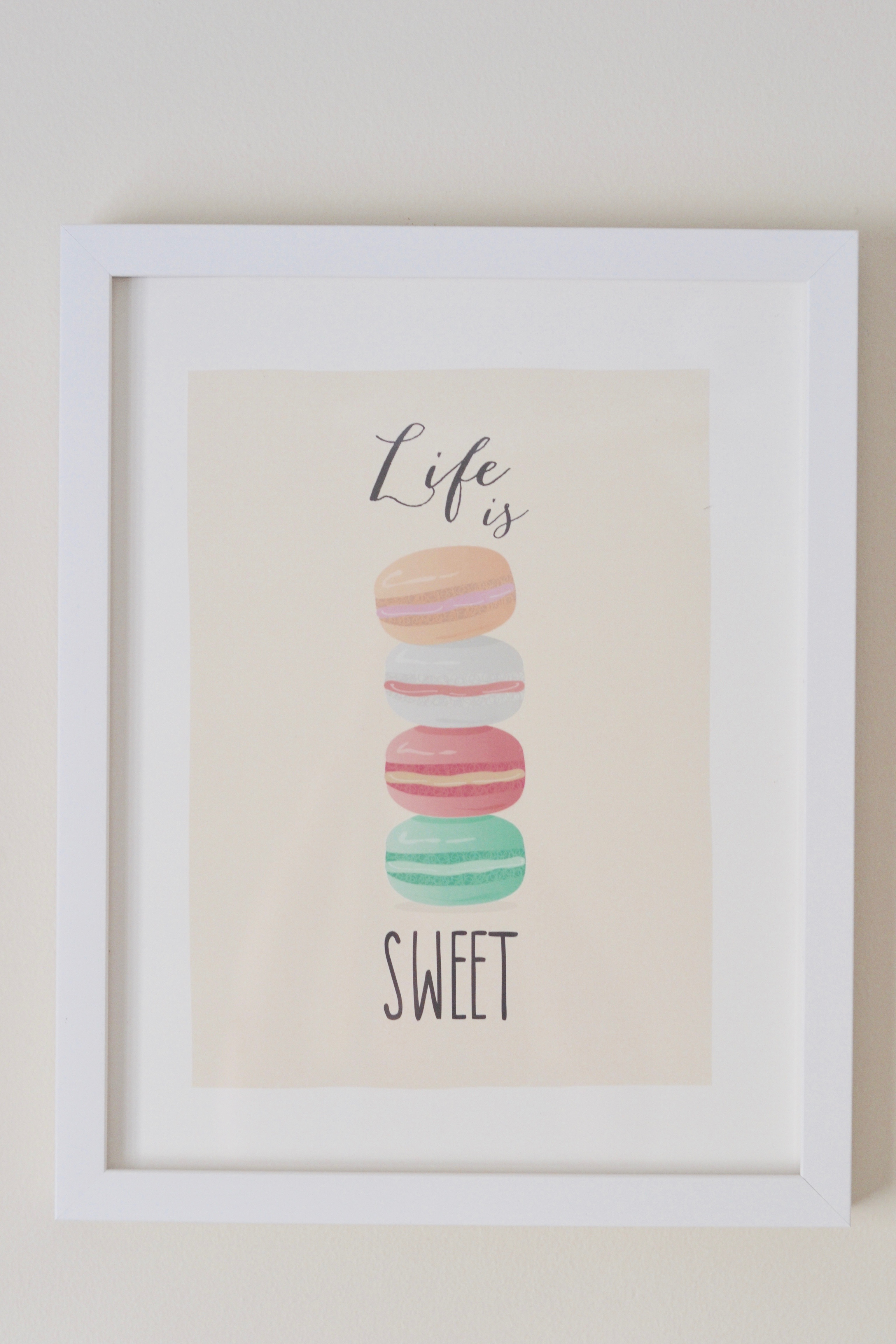 Minted Life Is Sweet framed print