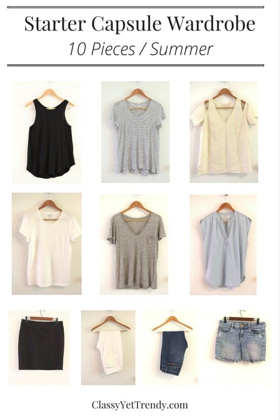 Starter Capsule Wardrobe Summer 10 Essentials