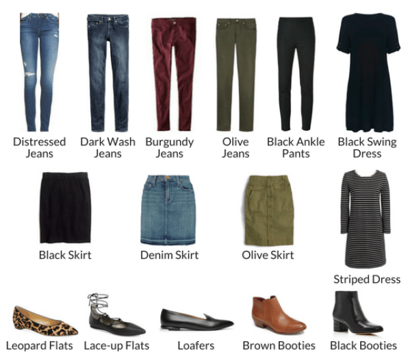 BOTTOMS AND SHOES FALL 2016 CAPSULE WARDROBE