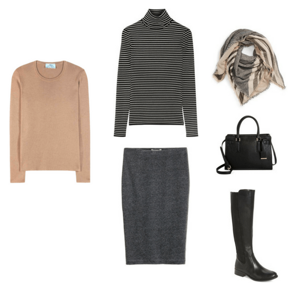 Outfit 64 - The French Minimalist Capsule Wardrobe: Winter 2017 Collection