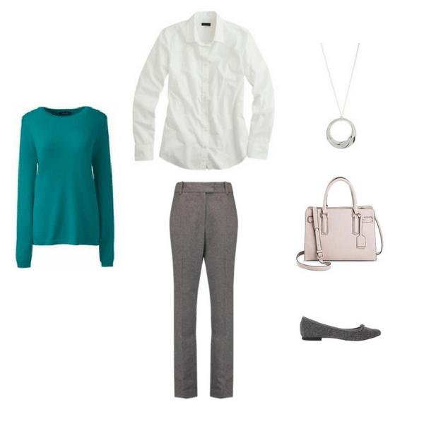 Workwear Capsule Wardrobe Winter Outfit #5