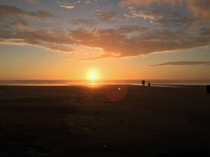 Beach Running Clatsop County Sunset