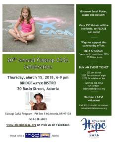 Clatsop CASA Celebration @ Bridgewater Bistro | Astoria | Oregon | United States